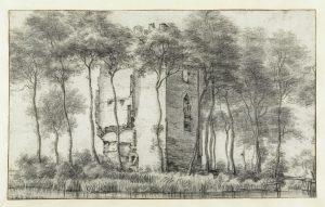 Ruïne van het slot Alkemade, Oud-Poelgeest, Roelant Roghman, 1646 - 1650